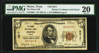 Moore, TX - $5 1929 Ty. 1 The Moore National Bank Ch. # 8817 PMG Very Fine 20