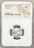 Ancients: LUCANIA. Metapontum. Ca. 340-330 BC. AR stater (19mm, 3h). NGC VF