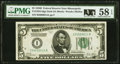 Small Size:Federal Reserve Notes, Fr. 1952-I $5 1928B Federal Reserve Note. PMG Choice About Unc 58 EPQ.. ...