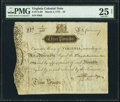 Colonial Notes:Virginia, Virginia March 4, 1773 £3 PMG Very Fine 25 Net.