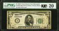 Small Size:Federal Reserve Notes, Fr. 1952-I $5 1928B Federal Reserve Note. PMG Very Fine 20.. ...