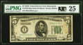 Small Size:Federal Reserve Notes, Fr. 1952-I $5 1928B Federal Reserve Note. PMG Very Fine 25.. ...