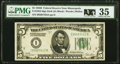Small Size:Federal Reserve Notes, Fr. 1952-I $5 1928B Federal Reserve Note. PMG Choice Very Fine 35.. ...