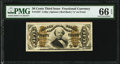 Fractional Currency:Third Issue, Fr. 1327 50¢ Third Issue Spinner PMG Gem Uncirculated 66 EPQ.. ...