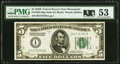 Small Size:Federal Reserve Notes, Fr. 1952-I $5 1928B Federal Reserve Note. PMG About Uncirculated 53.. ...