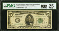 Small Size:Federal Reserve Notes, Fr. 1951-I $5 1928A Federal Reserve Note. PMG Very Fine 25.. ...