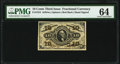 Fractional Currency:Third Issue, Fr. 1254 10¢ Third Issue PMG Choice Uncirculated 64.. ...