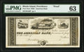 Providence, RI- American Bank Post Note 18__ G60 Durand UNL Proof PMG Choice Uncirculated 63