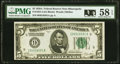 Fr. 1951-I $5 1928A Federal Reserve Note. PMG Choice About Unc 58 EPQ