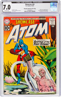 Showcase #34 The Atom -Murphy Anderson File Copy (DC, 1961) CGC FN/VF 7.0 Off-white pages