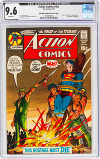 Action Comics #402 Murphy Anderson File Copy (DC, 1971) CGC NM+ 9.6 White pages