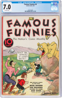 Famous Funnies #8 (Eastern Color, 1935) CGC FN/VF 7.0 Off-white pages