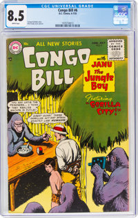 Congo Bill #6 (DC, 1955) CGC VF+ 8.5 White pages