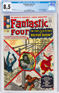 Fantastic Four #17 (Marvel, 1963) CGC VF+ 8.5 White pages