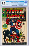 Silver Age (1956-1969):Superhero, Captain America #100 (Marvel, 1968) CGC VF+ 8.5 Off-white pages....