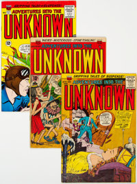 Adventures Into The Unknown Group of 17 (ACG, 1953-65) Condition: Average VG+.... (Total: 17)