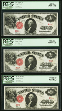 Double Digit Set Fr. 37 $1 1917 Legal Tenders Nine Examples PCGS Graded. ... (Total: 9)