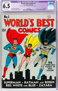 World's Best Comics #1 (DC, 1941) CGC Apparent FN+ 6.5 Slight (B-1) Off-white pages