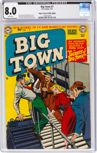Big Town #7 Mile High Pedigree (DC, 1951) CGC VF 8.0 White pages