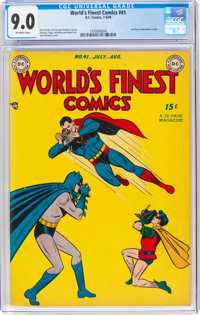 World's Finest Comics #41 (DC, 1949) CGC VF/NM 9.0 Off-white pages