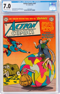 Action Comics #167 (DC, 1952) CGC FN/VF 7.0 Off-white to white pages
