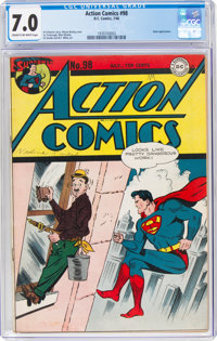 Action Comics #98 (DC, 1946) CGC FN/VF 7.0 Cream to off-white pages