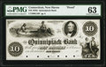 Obsoletes By State:Connecticut, New Haven, CT- Quinnipiack Bank $10 18__ as G28 Proof PMG Choice Uncirculated 63.. ...