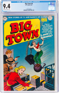 Big Town #6 (DC, 1951) CGC NM 9.4 Off-white to white pages
