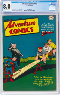 Adventure Comics #107 (DC, 1946) CGC VF 8.0 Off-white to white pages