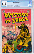 Golden Age (1938-1955):Science Fiction, Mystery in Space #6 (DC, 1952) CGC FN+ 6.5 Off-white to white pages....