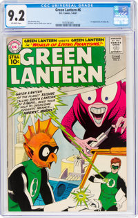 Green Lantern #6 (DC, 1961) CGC NM- 9.2 Off-white pages