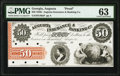 Obsoletes By State:Georgia, Augusta, GA- Augusta Insurance & Banking Co. $50 18__ G46a Proof PMG Choice Uncirculated 63.. ...