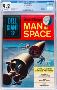 Dell Giant #27 Man in Space (Dell, 1959) CGC NM- 9.2 Off-white pages
