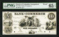 Obsoletes By State:District of Columbia, Georgetown, DC- Bank of Commerce $10 18__ as G4 Proof PMG Gem Uncirculated 65 EPQ.. ...
