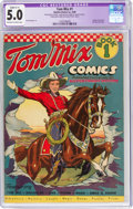 Golden Age (1938-1955):Western, Tom Mix Comics #1 (Ralston-Purina Co., 1940) CGC Apparent VG/FN 5.0 Slight (C-1) Off-white to white pages....