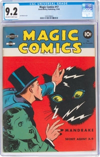 Magic Comics #17 (David McKay Publications, 1940) CGC NM- 9.2 Off-white to white pages