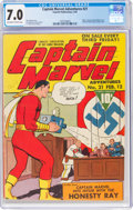 Golden Age (1938-1955):Superhero, Captain Marvel Adventures #21 (Fawcett Publications, 1943) CGC FN/VF 7.0 Off-white to white pages....