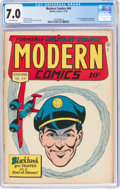 Golden Age (1938-1955):War, Modern Comics #44 (Quality, 1945) CGC FN/VF 7.0 Off-white pages....