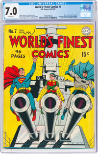 World's Finest Comics #7 (DC, 1942) CGC FN/VF 7.0 White pages
