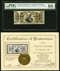 Fr. 1336 50¢ Third Issue Spinner PMG Choice Uncirculated 64 EPQ. ... (Total: 2)