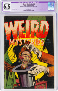 Weird Mysteries #6 (Gillmor, 1953) CGC Apparent FN+ 6.5 Slight (C-1) Off-white to white pages