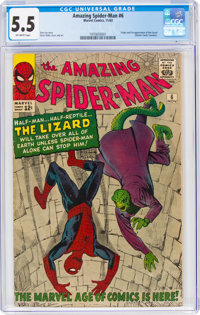 The Amazing Spider-Man #6 (Marvel, 1963) CGC FN- 5.5 Off-white pages