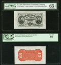 Fractional Currency:Third Issue, Fr. 1272SP 15¢ Third Issue Wide Margin Face PMG Gem Uncirculated 65 EPQ. Fr. 1276SP 15¢ Third Issue Wide Margin Red Back P... (Total: 2 notes)