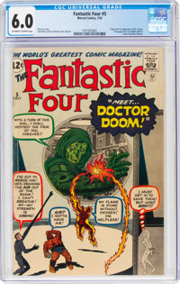 Fantastic Four #5 (Marvel, 1962) CGC FN 6.0 Off-white to white pages