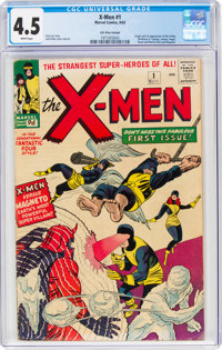 X-Men #1 UK Edition (Marvel, 1963) CGC VG+ 4.5 White pages