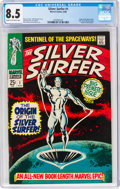 Silver Age (1956-1969):Superhero, The Silver Surfer #1 (Marvel, 1968) CGC VF+ 8.5 Cream to off-white pages....