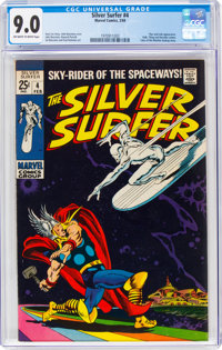 The Silver Surfer #4 (Marvel, 1969) CGC VF/NM 9.0 Off-white to white pages
