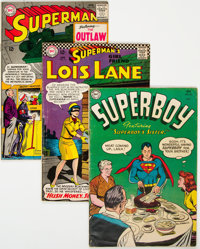 Superman Related and Other DC Titles Golden to Bronze Age Group of 17 (DC, 1950s-70s) Condition: Average VG.... (Total:...