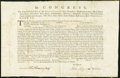 Colonial Notes:Continental Congress Issues, United States Continental Congress Letter of Marque Signed by John Jay May 21, 1779 Very Fine-Extremely Fine.. ...