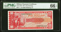 Military Payment Certificates:Series 661, Series 661 $10 PMG Gem Uncirculated 66 EPQ.. ...